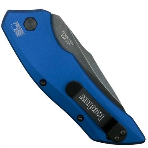 Фото 6 - Складной автоматический нож Kershaw Launch 1 K7100BLUBW, сталь CPM-154, рукоять алюминий