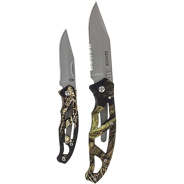 Фото 7 - Набор ножей Gerber Paraframe Combo и Mossy Oak, клинки 420HC, рукоять алюминий, хаки