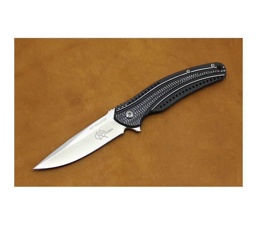 Фото 10 - Складной нож CRKT Ripple 2 Charcoal, сталь Acuto 440, рукоять нержавеющая сталь
