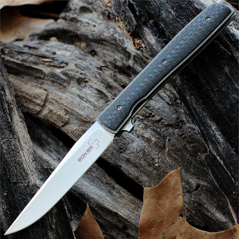 Фото 7 - Нож складной Urban Trapper Carbon - Boker Plus 01BO733, сталь VG-10 Satin, рукоять титан/карбон