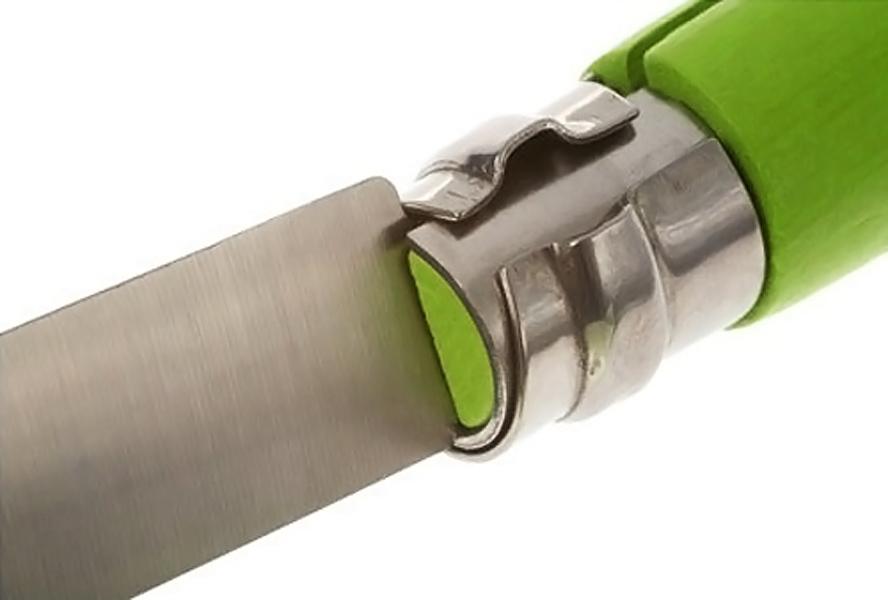 Фото 8 - Складной Нож Opinel №7 Trekking, сталь XC90 Carbon steel, граб, светло-зеленый