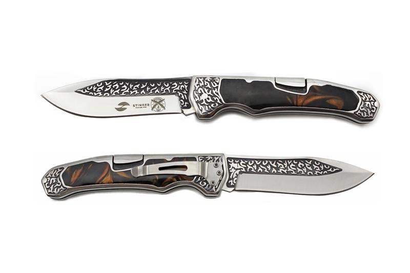 Нож складной Stinger A-3154, сталь 420, алюминий