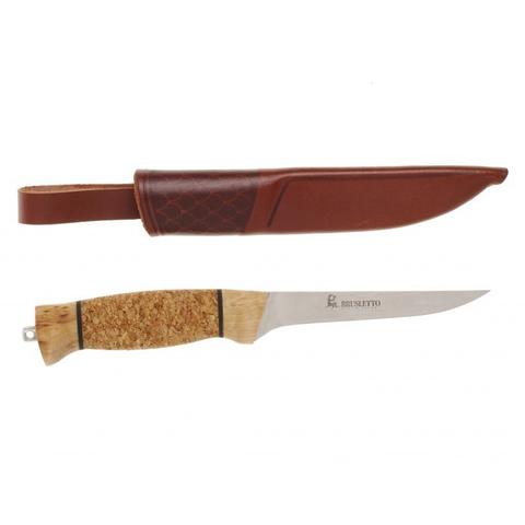 Нож с фиксированным клинком Brusletto Fiskern, сталь 440C, рукоять пробковое дерево/береза. Вид 3