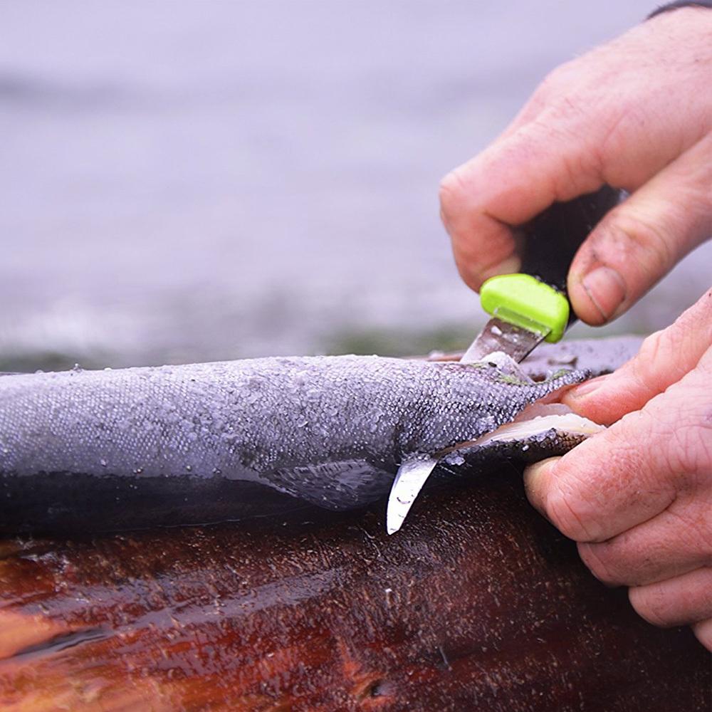 Фото 8 - Нож с фиксированным лезвием Morakniv Fishing Comfort Fillet 090, сталь Sandvik 12C27, рукоять резина/пластик
