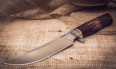 Нож Лесник, карельская береза, сталь ELMAX, фото 3