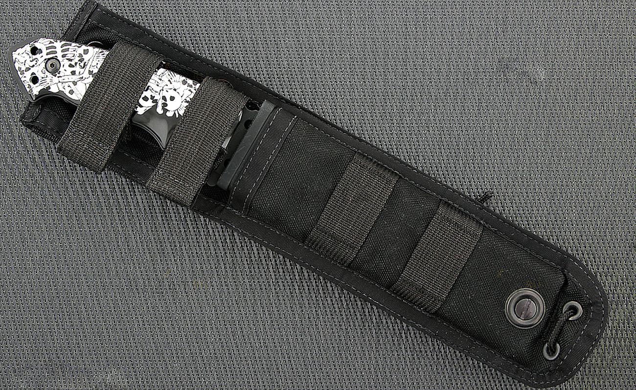 Фото 9 - Нож с фиксированным клинком Hogue EX-F01, HG/35159BKSR, Custom Skulls & Bones, сталь A2 Tool Steel, рукоять ABS-пластик