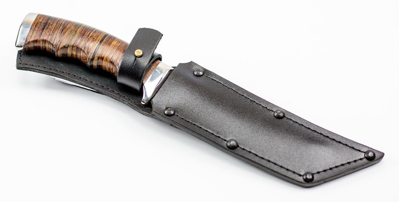 Фото 20 - Нож Аркан Р в коже, 95Х18 от Титов и Солдатова