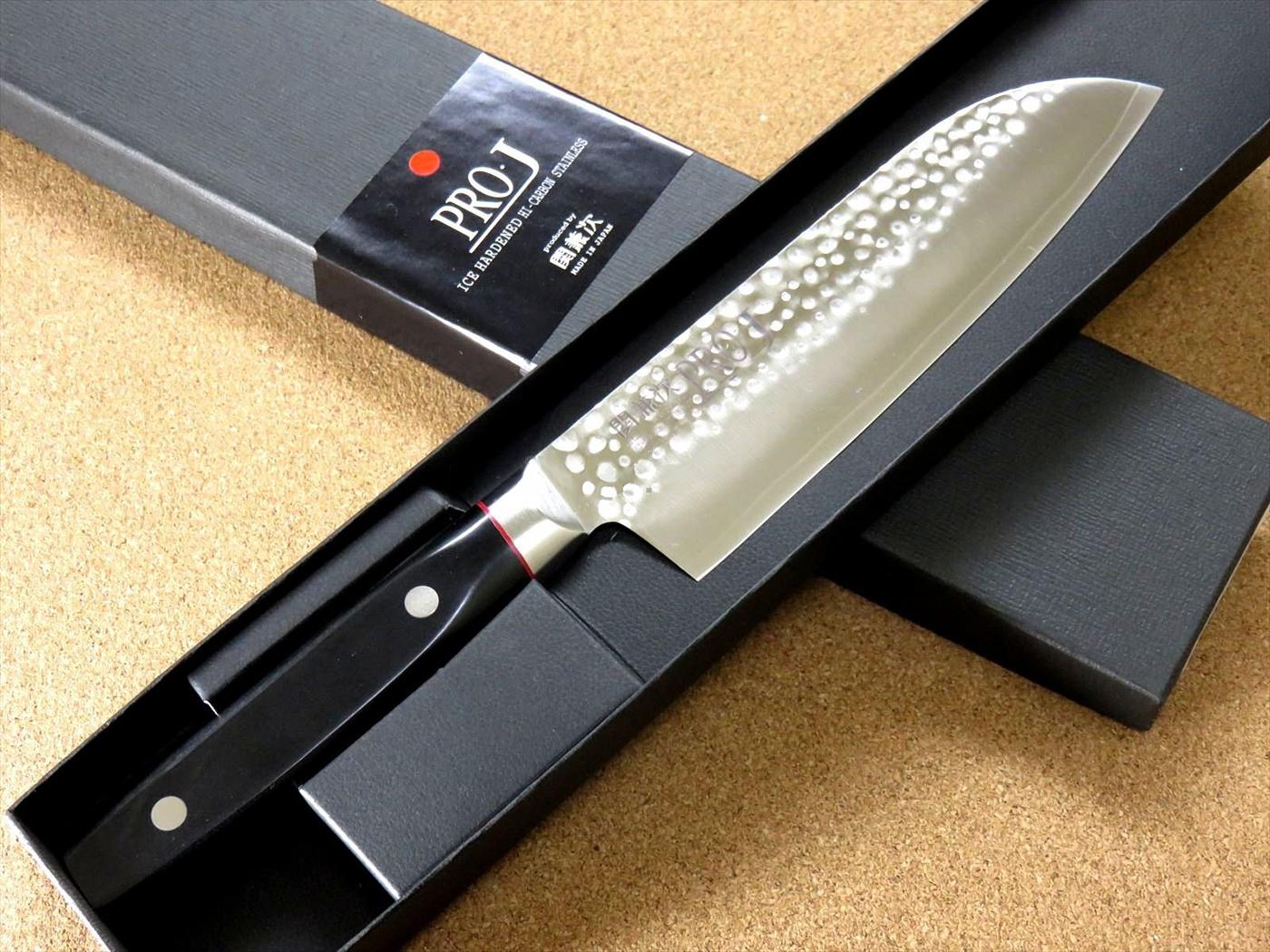 Фото 10 - Кухонный нож Сантоку, Pro-J, Kanetsugu, 6003, сталь VG-10, в картонной коробке