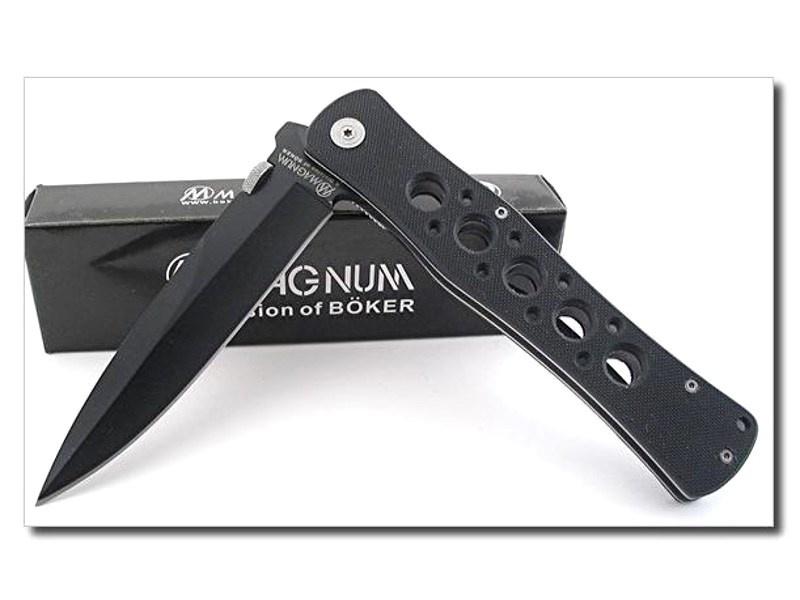 Фото 10 - Нож складной Magnum Power Ranger - Boker 01MB219, сталь 440A Titanium Nitride, рукоять стеклотекстолит G10, чёрный
