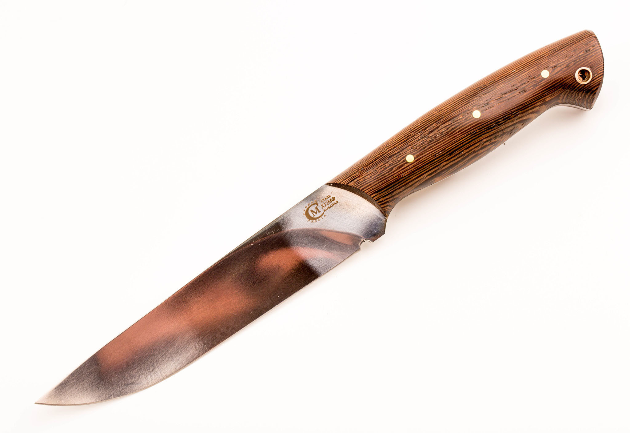 Нож цельнометаллический Пантера, сталь Х12МФ, рукоять венге от Кузница Семина