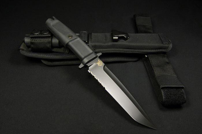 Фото 6 - Нож с фиксированным клинком Extrema Ratio Dobermann III Black (Soft Nylon Sheath), сталь Bhler N690