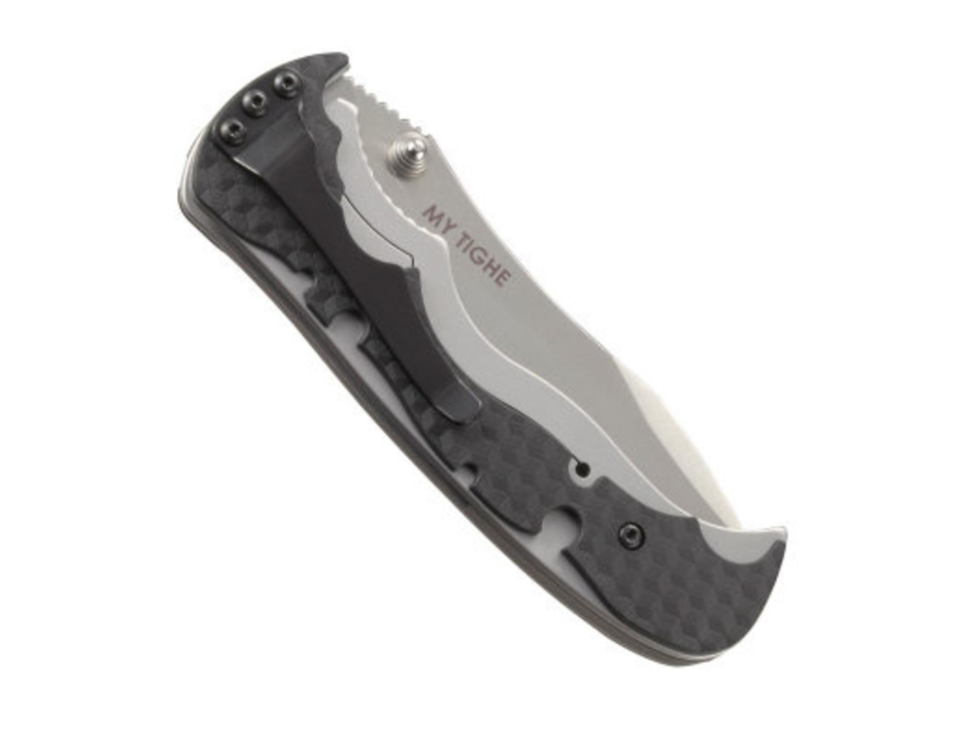 Фото 7 - Полуавтоматический складной нож My Tighe, CRKT 1090, сталь 1. 4116 (X50CrMoV 15), рукоять сталь/термопластик