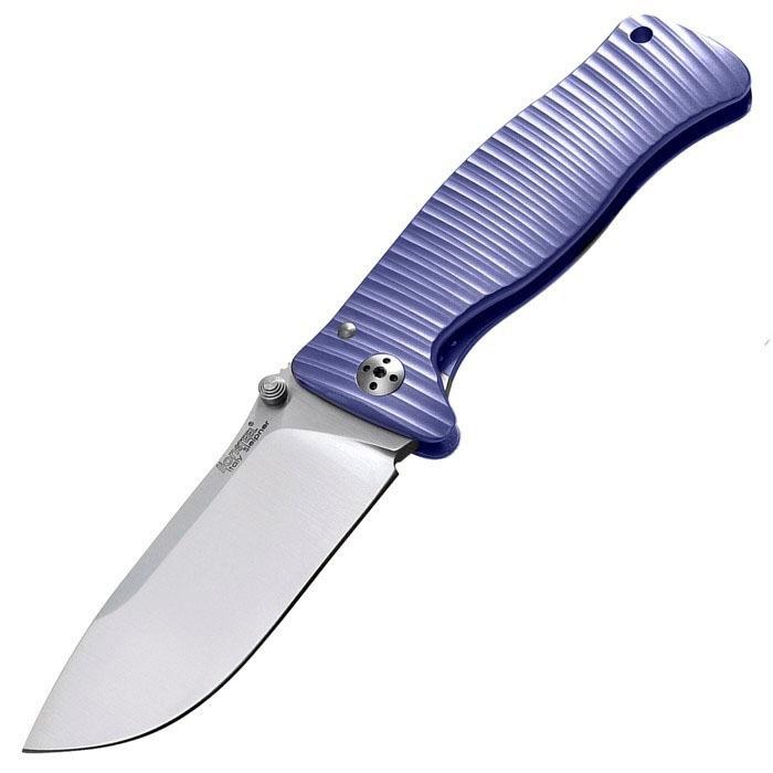 Нож складной LionSteel SR2 V (VIOLET) Mini, сталь Uddeholm Sleipner® Satin Finish, рукоять титан по технологии Solid®, фиолетовый