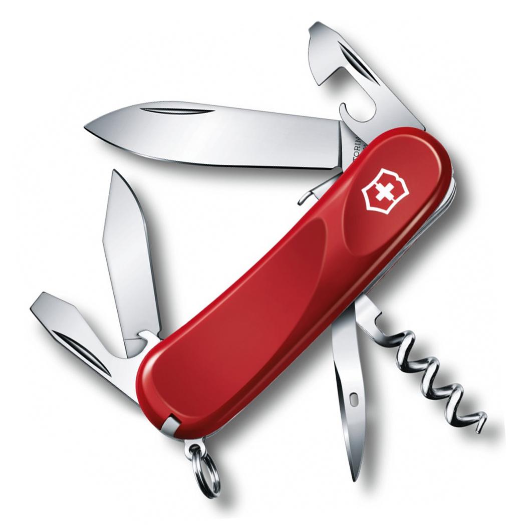 Нож перочинный Victorinox Evolution S101, сталь X50CrMoV15, рукоять нейлон, красный