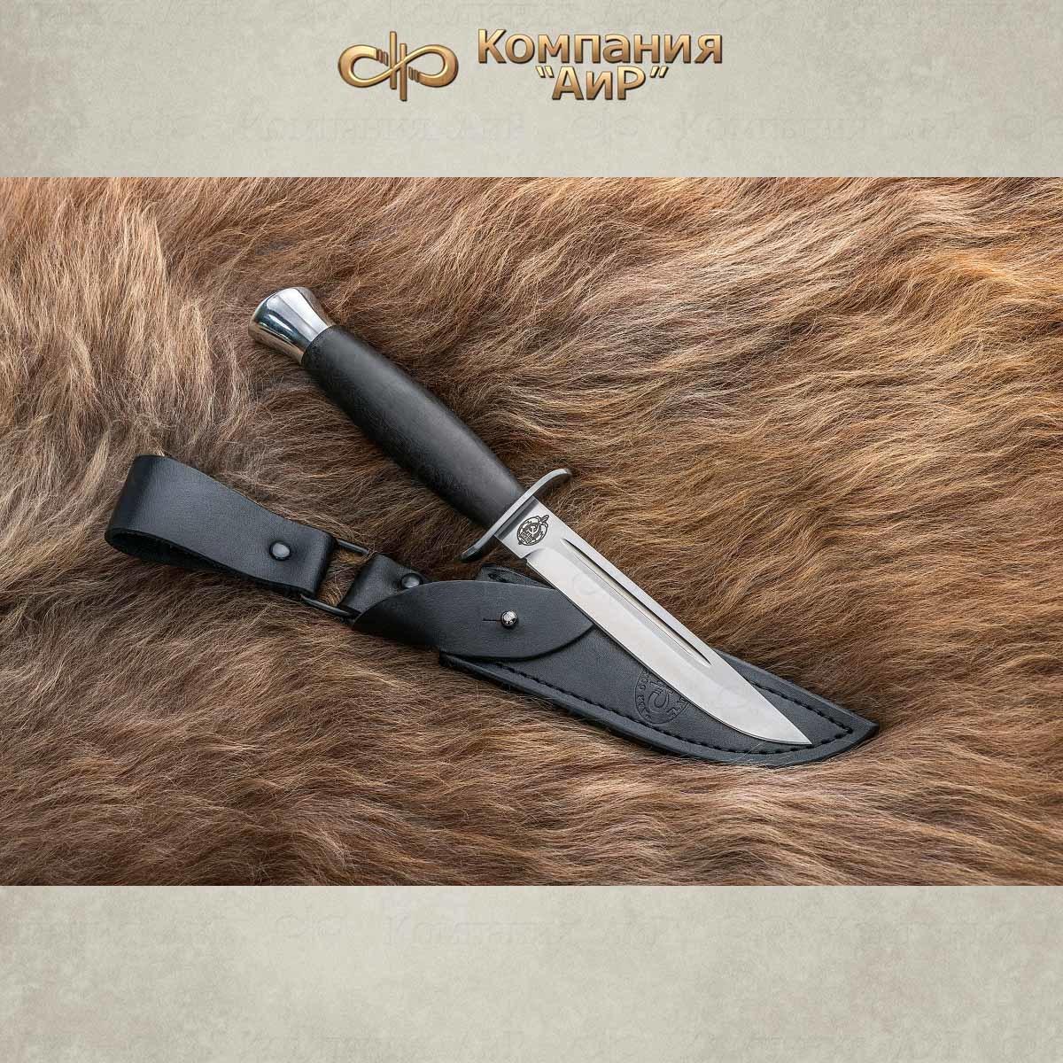 Фото - Нож АиР Финка-2, сталь 110х18 М-ШД, рукоять граб нож казацкий засапожный сталь 110х18 рукоять граб