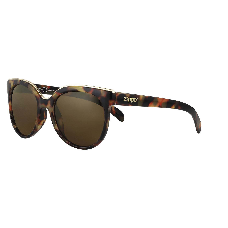 Очки солнцезащитные ZIPPO OB73-02, женские, коричневые, оправа, линзы и дужки из поликарбоната