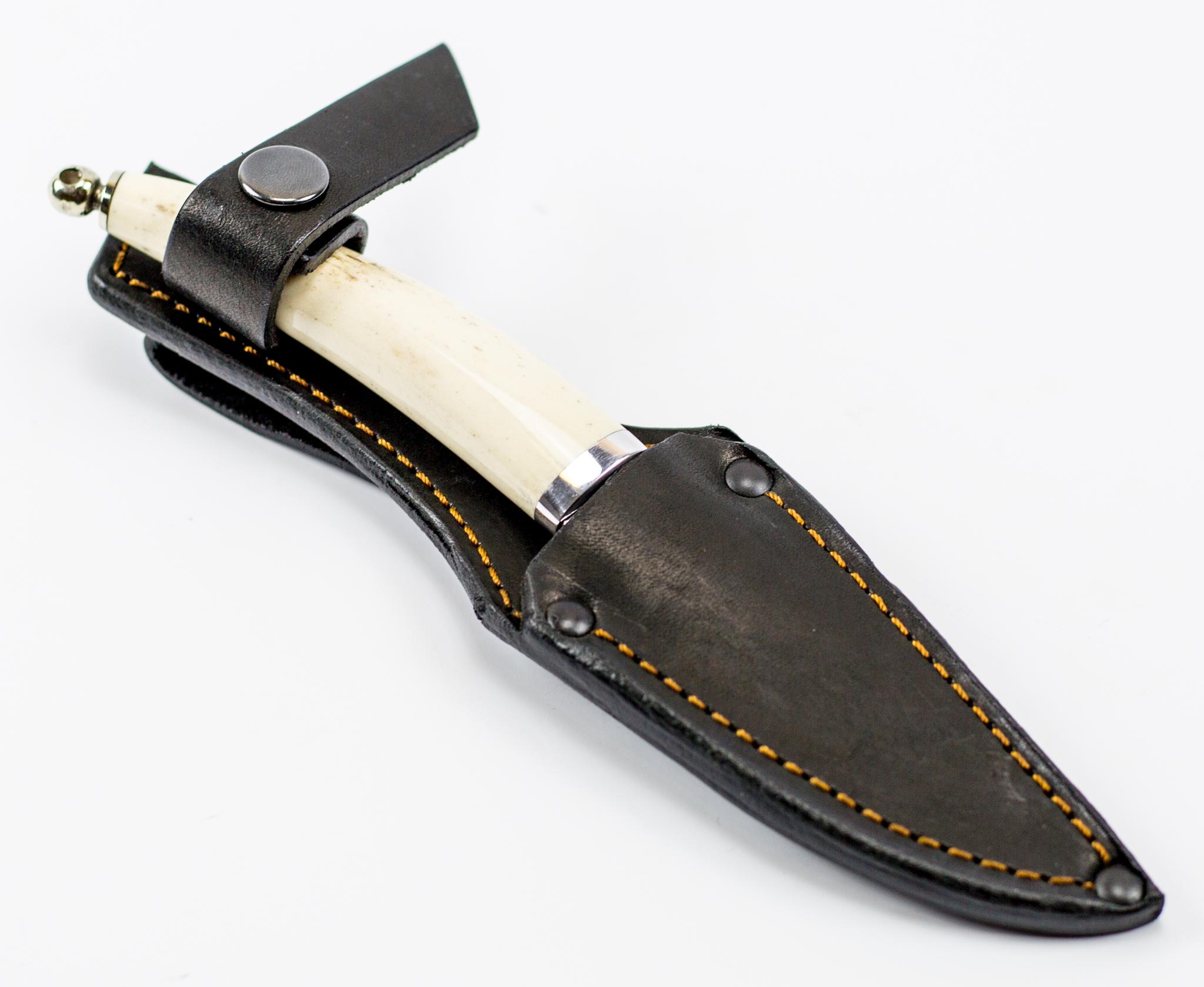 Фото 10 - Нож Рысь малютка, сталь Х12МФ, рог лося от Ножи Фурсач