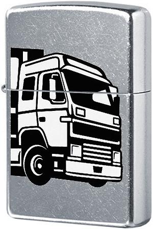 Зажигалка ZIPPO 207 European Truck с покрытием Street Chrome™, латунь/сталь, серебристая, 36x12x56 м