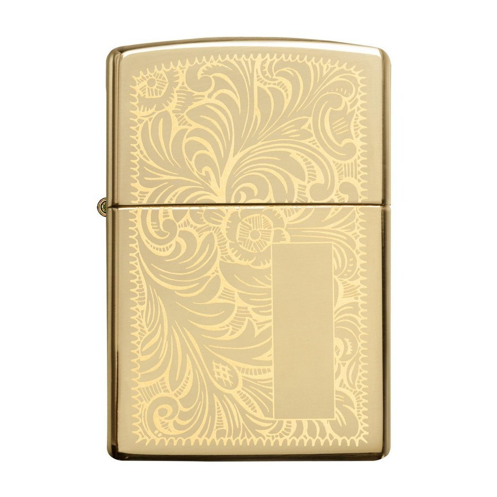 Зажигалка ZIPPO Venetian® с покрытием High Polish Brass, латунь/сталь, золотистая, 36x12x56 мм