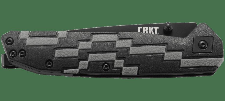 Фото 3 - Полуавтоматический складной нож Hyperspeed, CRKT 7020, сталь 8Cr14MoV Black Oxide Coating, рукоять термопластик GRN