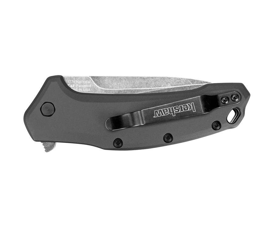 Фото 15 - Складной полуавтоматический нож Kershaw Link Tanto K1776TGRYBW, сталь 420HC, рукоять алюминий