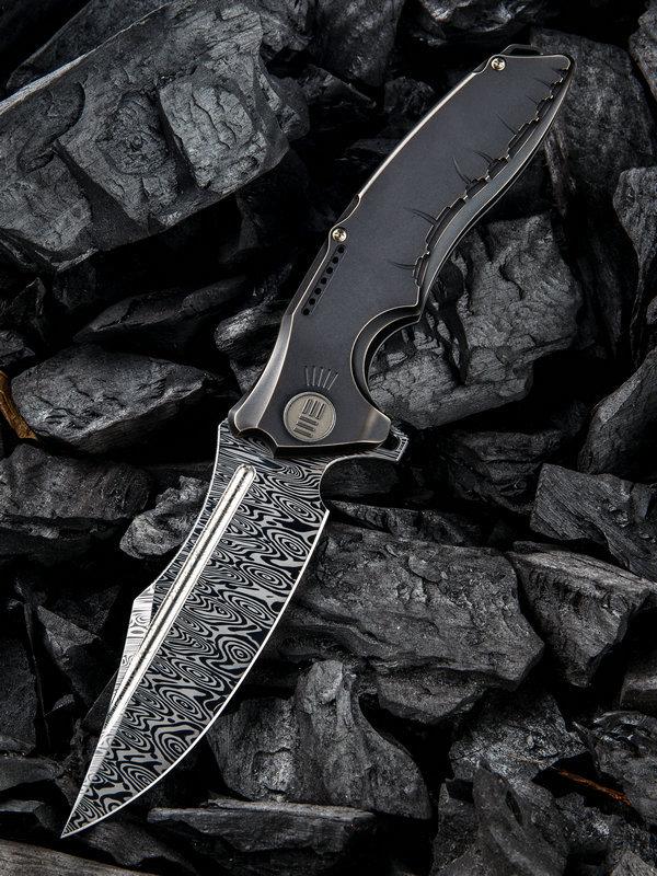 Складной нож WE Knife Chimera, Damasteel