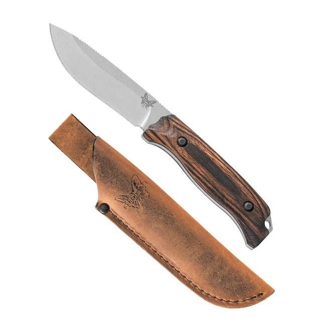 Фото 4 - Нож Benchmade Saddle Mountain Skinner Hunt Wood 15001-2, сталь CPM S30V, рукоять дерево