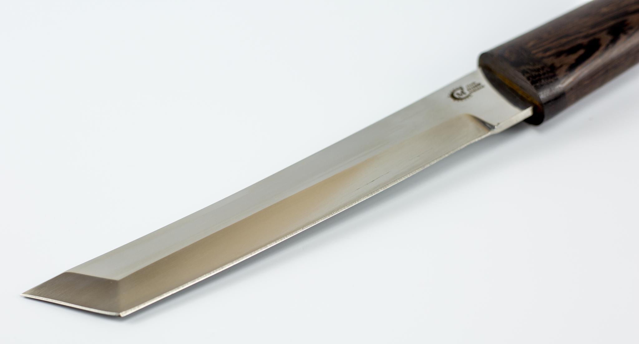 Фото 10 - Нож Танто из Х12МФ, рукоять и ножны граб от Кузница Семина