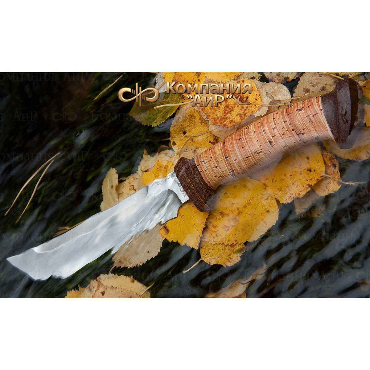 Фото - Нож разделочный АиР Росомаха, сталь 110х18 М-ШД, рукоять береста гуггенхайм м росомаха гражданская война