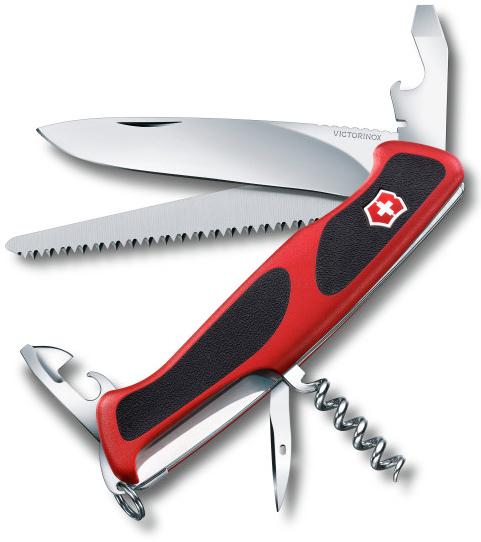 Купить Нож перочинный Victorinox RangerGrip 55 0.9563.C 130мм 12 функций красно-чёрный в России