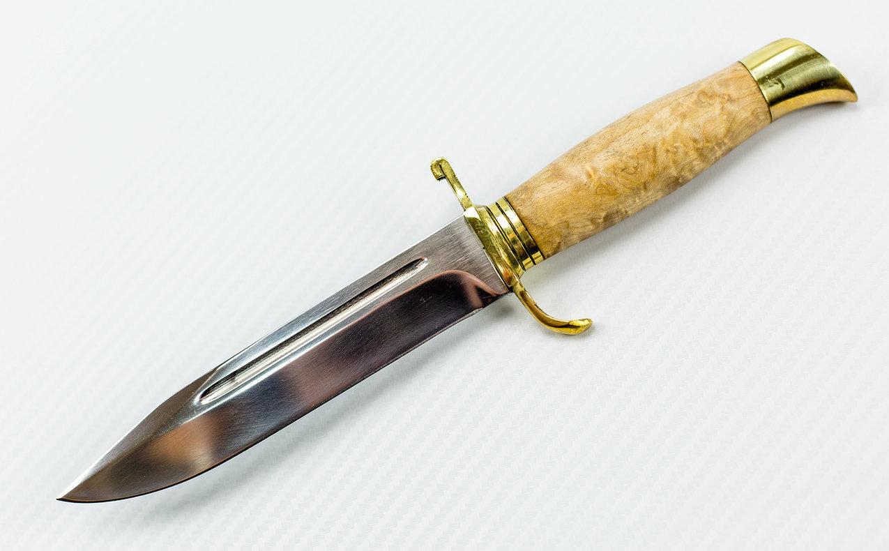 Нож НР-40, сталь 95х18, карельская береза от Промтехснаб