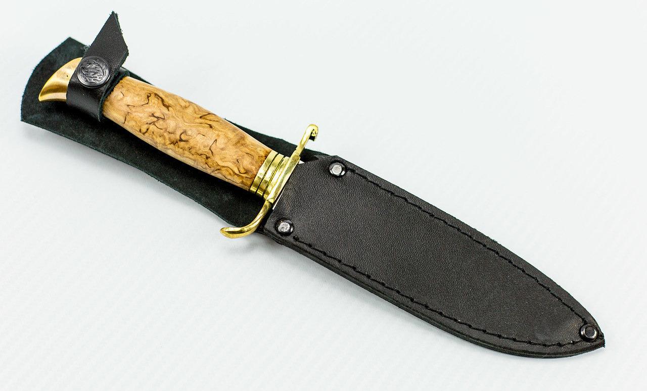 Фото 13 - Нож НР-40, карельская береза от Мастерская Климентьева