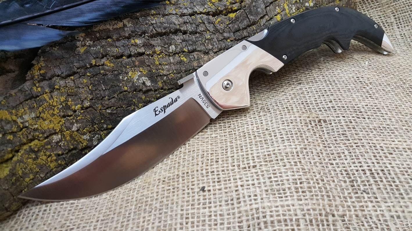 Фото 5 - Складной нож Espada (Large) - Cold Steel 62MB, сталь CPM-S35VN, рукоять G10/Анодированный алюминий