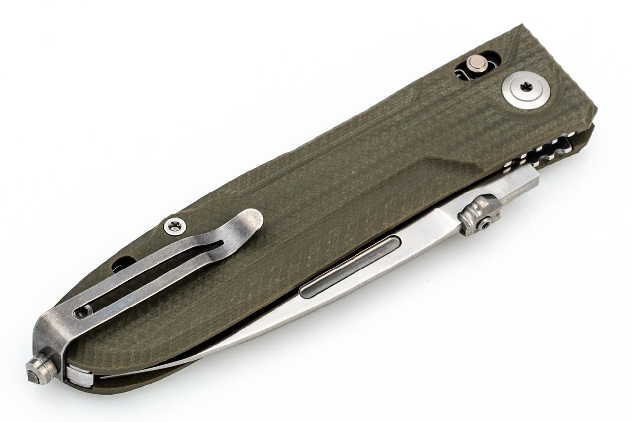 Фото 8 - Складной нож Lionsteel Big Daghetta 8710 GR, сталь D2, рукоять G10, зеленый от Lion Steel