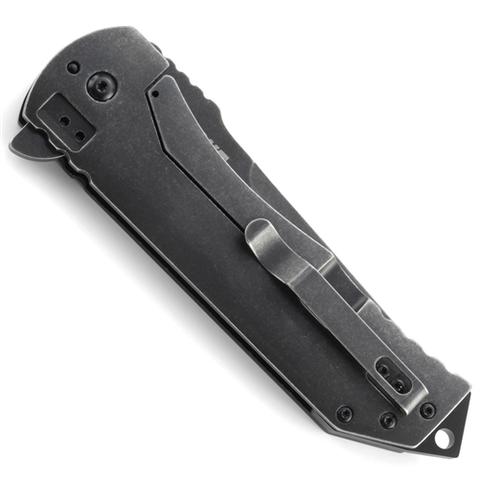 Складной нож CRKT R2103K Ruger® Knives 2-Stage™ Compact, сталь 8Cr13MOV Blackwashed, рукоять алюминий/сталь. Вид 3