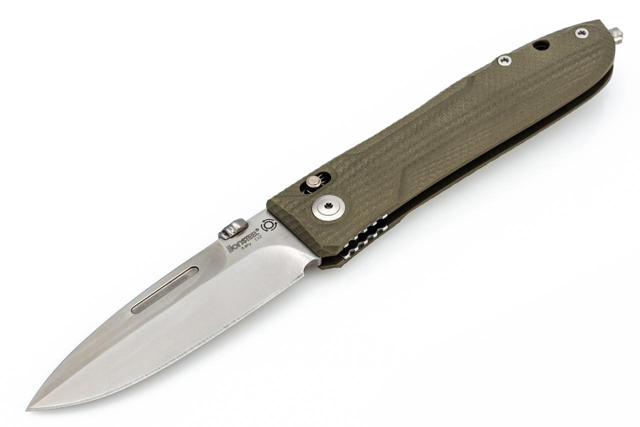 Фото 7 - Складной нож Lionsteel Big Daghetta 8710 GR, сталь D2, рукоять G10, зеленый от Lion Steel