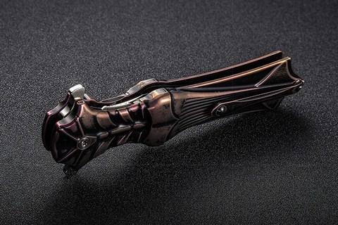 Складной нож Amulet Rikeknife, сталь M390, черно-фиолетовый титан. Вид 11