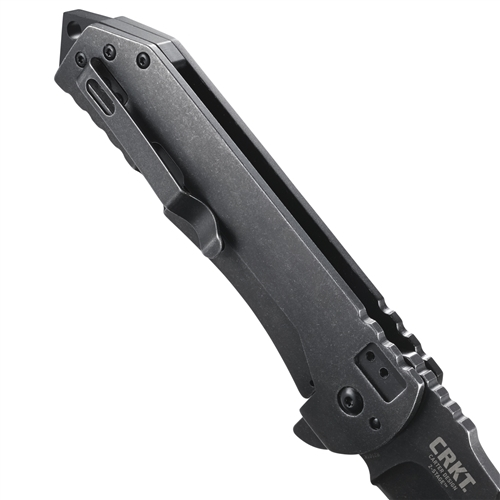Фото 7 - Складной нож Ruger® Knives Robert Carter Design 2-Stage™ Compact Flipper, Blackwashed Plain Blade, Aluminum & Stainless Steel Handle от CRKT