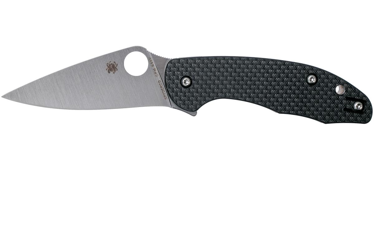 Фото 8 - Нож складной MANTRA 3 Spyderco C233CFP, сталь Crucible CPM® S30V™ Satin Plain, рукоять карбон/стеклотекстолит G10, чёрный