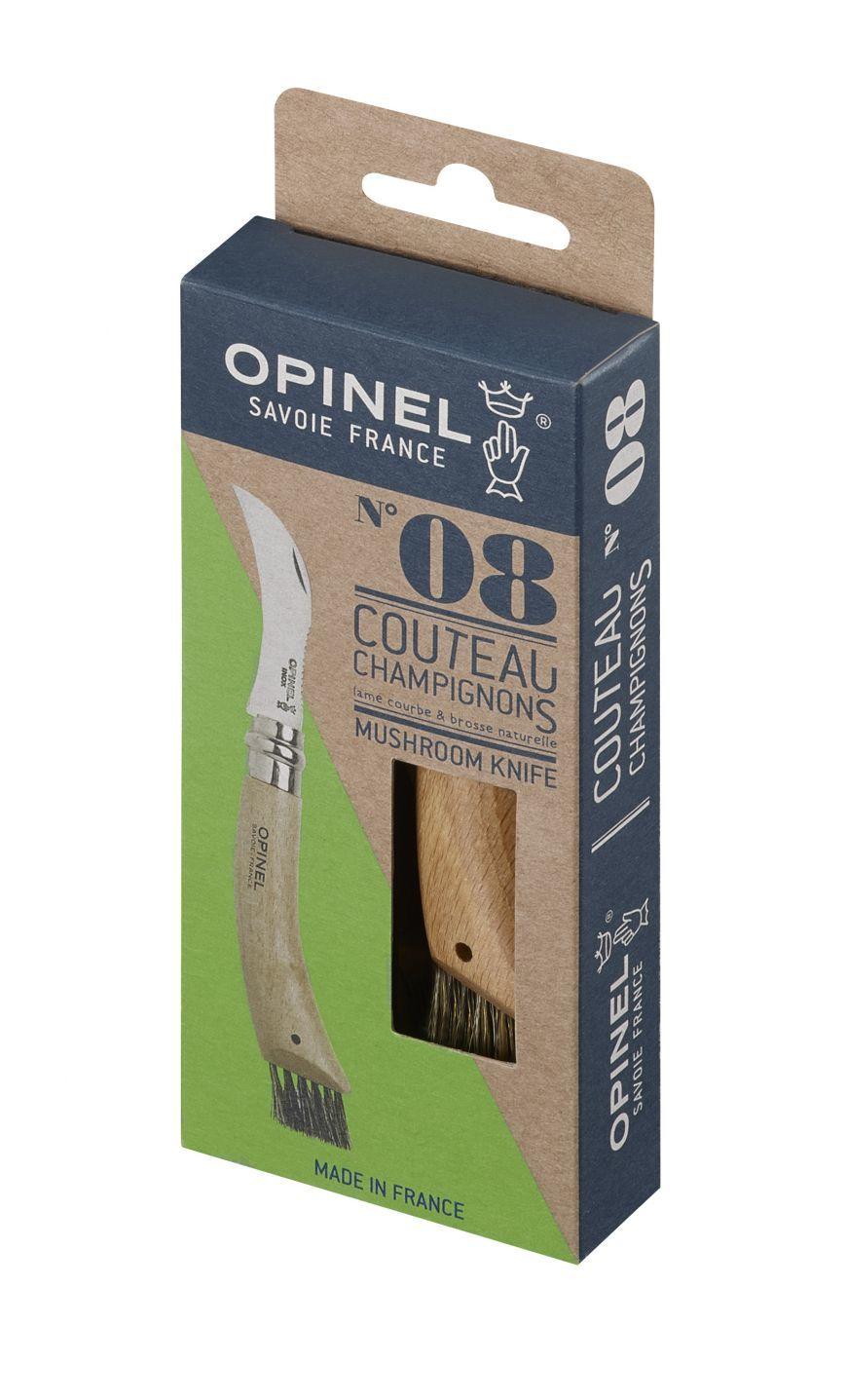 Фото 13 - Нож грибника складной Opinel №8, нержавеющая сталь Sandvik 12C27, рукоять бук, 001252