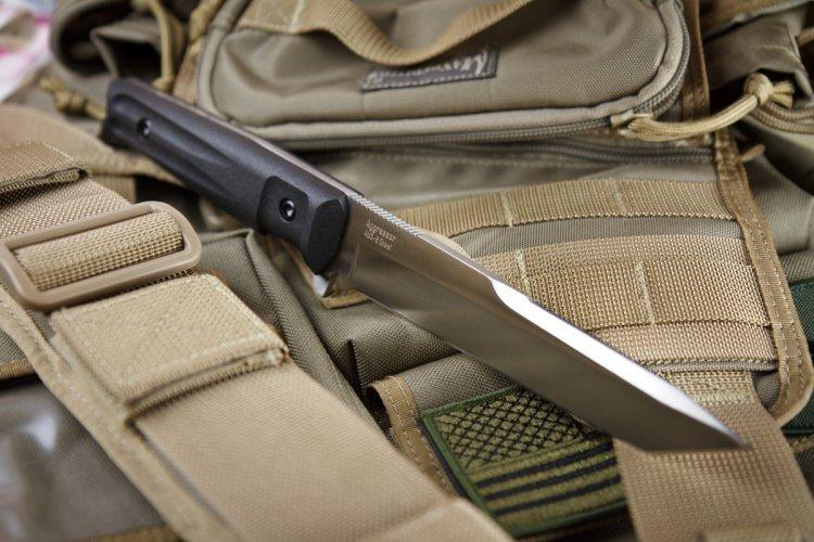Фото 7 - Тактический нож Aggressor AUS-8 Satin+SW, Kizlyar Supreme