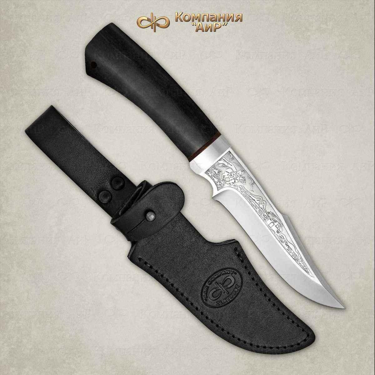 Фото - Нож АиР Хазар, сталь 110х18 М-ШД, рукоять граб нож казацкий засапожный сталь 110х18 рукоять граб
