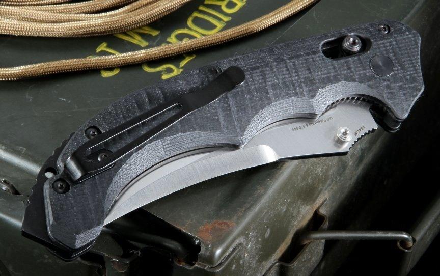 Фото 10 - Нож складной Bedlam 860, сталь 154CM, рукоять G-10 от Benchmade