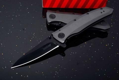 Складной полуавтоматический нож Kershaw Grid K2200, сталь 8Cr13MoV, рукоять нержавеющая сталь. Вид 4