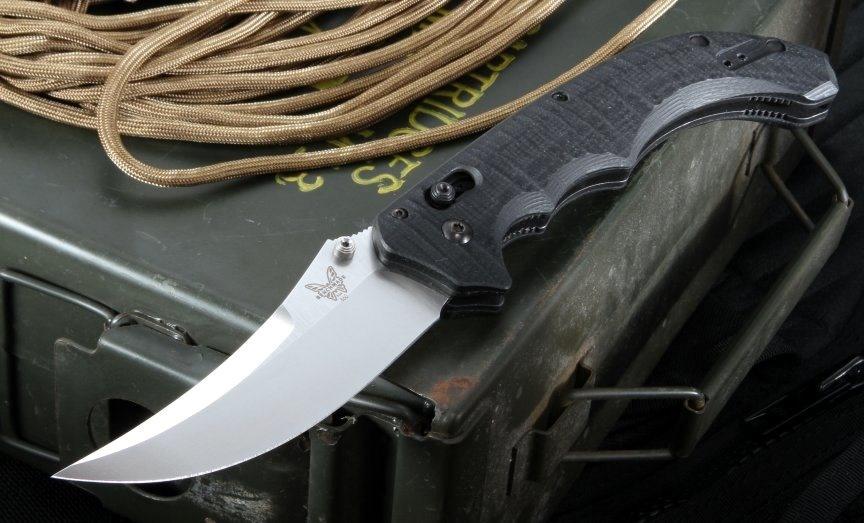 Фото 9 - Нож складной Bedlam 860, сталь 154CM, рукоять G-10 от Benchmade