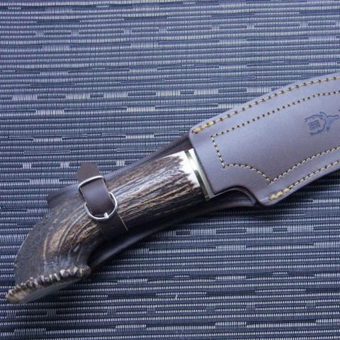 Нож с фиксированным клинком Muela Lobo, сталь X50CrMoV15, рукоять олений рог. Вид 5