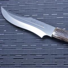 Нож с фиксированным клинком Muela Lobo, сталь X50CrMoV15, рукоять олений рог, фото 4