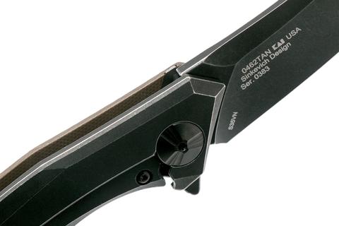 Нож складной ZT 0462TAN сталь S35VN, рукоять Tan G10. Вид 8