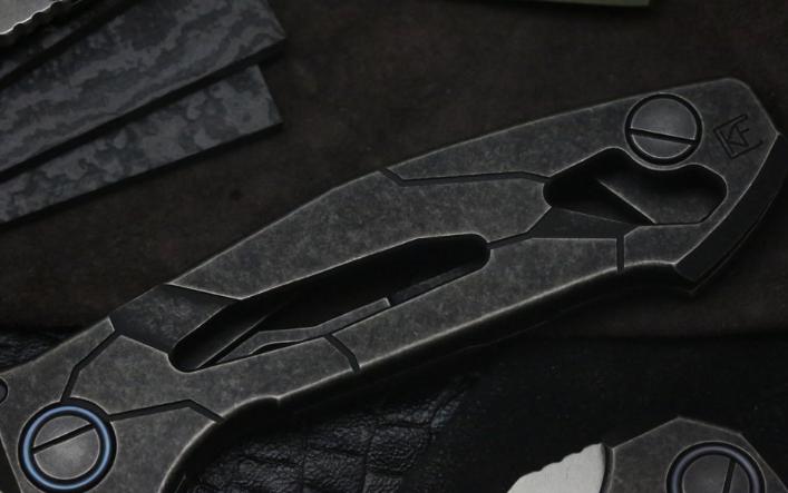 Фото 2 - Складной нож CKF T14W, сталь M390, рукоять Titanium от Custom Knife Factory