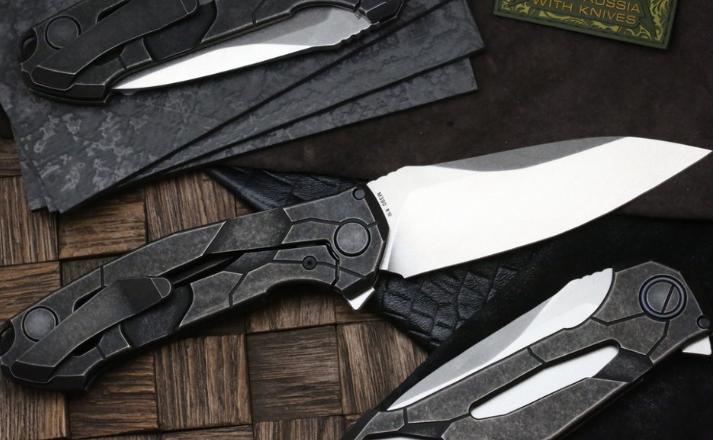 Фото 4 - Складной нож CKF T14W, сталь M390, рукоять Titanium от Custom Knife Factory
